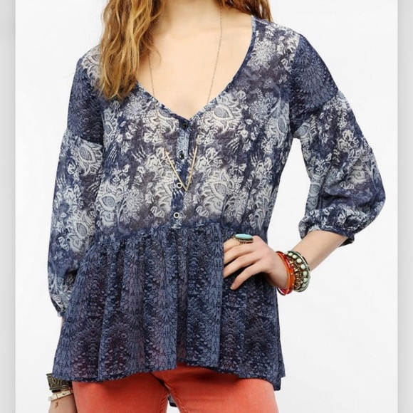 Urban Outfitters Tops - UO | Ecote boho sheer blouse size medium
